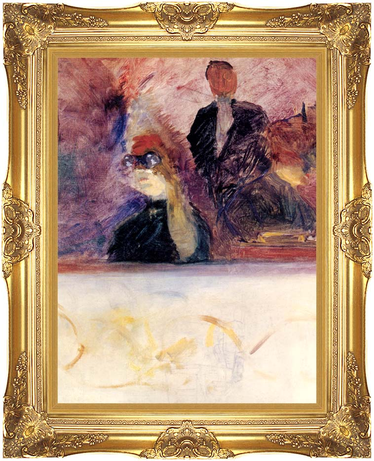 Henri de Toulouse Lautrec Theater Box with the Gilded Mask with Majestic Gold Frame
