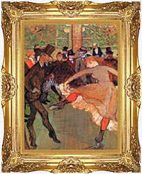 Henri De Toulouse Lautrec Training Of New Girls By Valentin The Boneless canvas with Majestic Gold frame