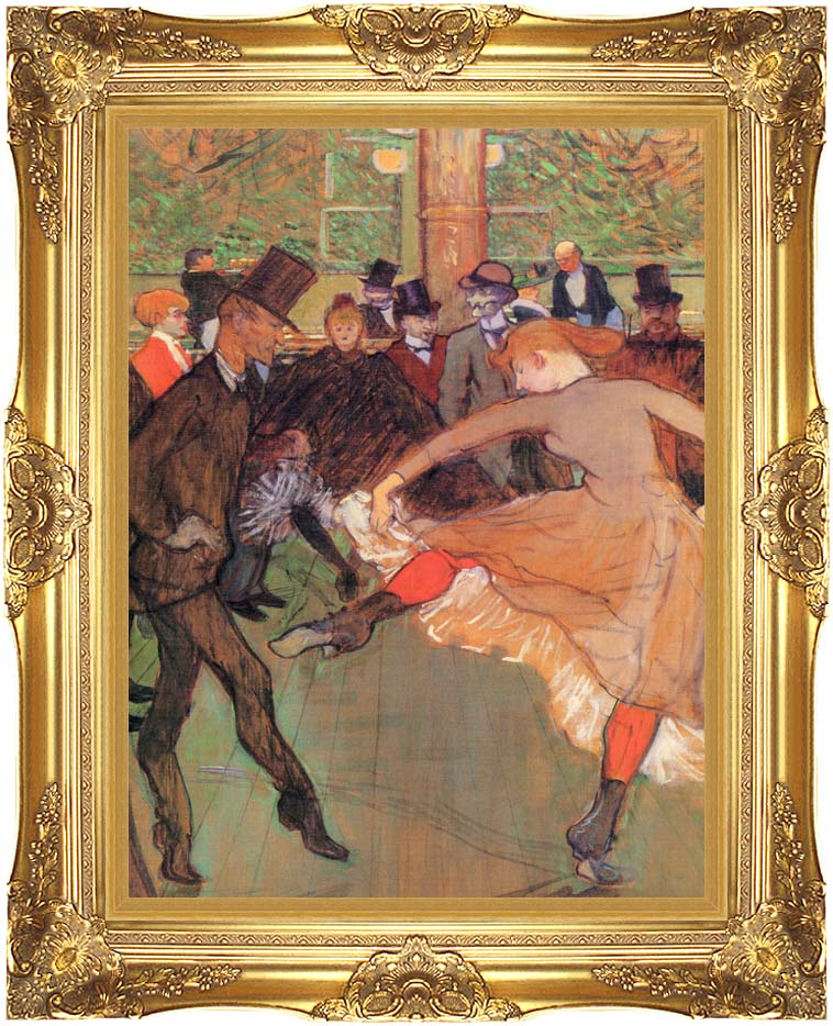 Henri de Toulouse Lautrec Training of New Girls by Valentin the Boneless with Majestic Gold Frame