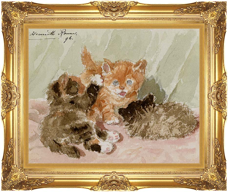 Henriette Ronner Knip The Jester with Majestic Gold Frame
