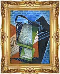 Juan Gris Abstraction canvas with Majestic Gold frame