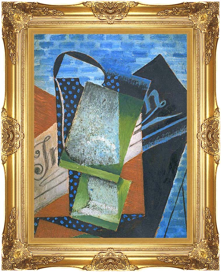 Juan Gris Abstraction with Majestic Gold Frame
