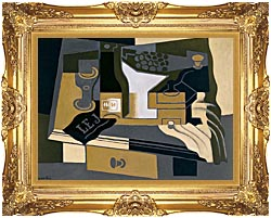 Juan Gris Coffee Grinder canvas with Majestic Gold frame