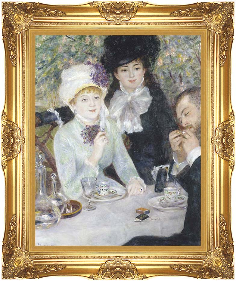 Pierre Auguste Renoir After the Luncheon with Majestic Gold Frame
