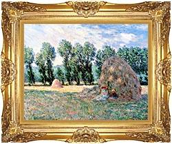 Haystacks Framed Art