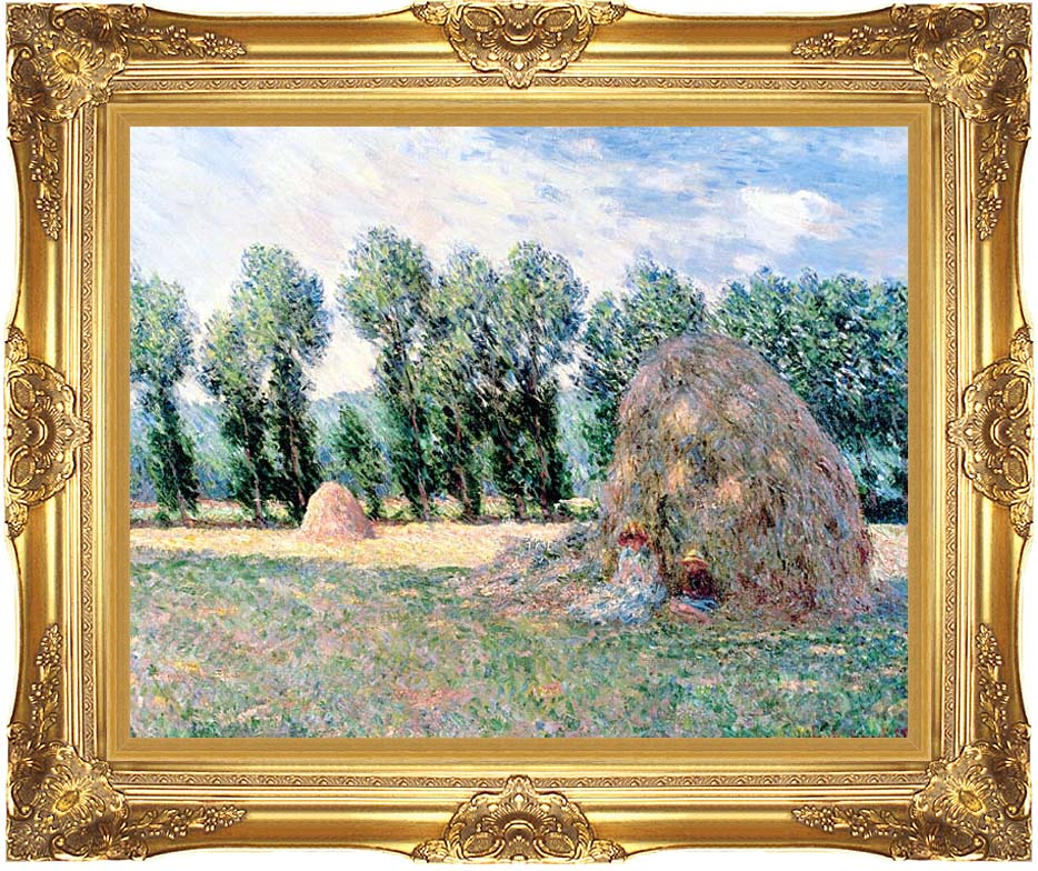 Claude Monet Haystacks with Majestic Gold Frame