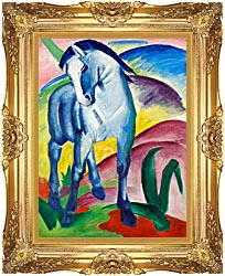 Franz Marc Blue Horse 1 canvas with Majestic Gold frame