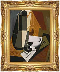 Juan Gris Coffee Pot canvas with Majestic Gold frame