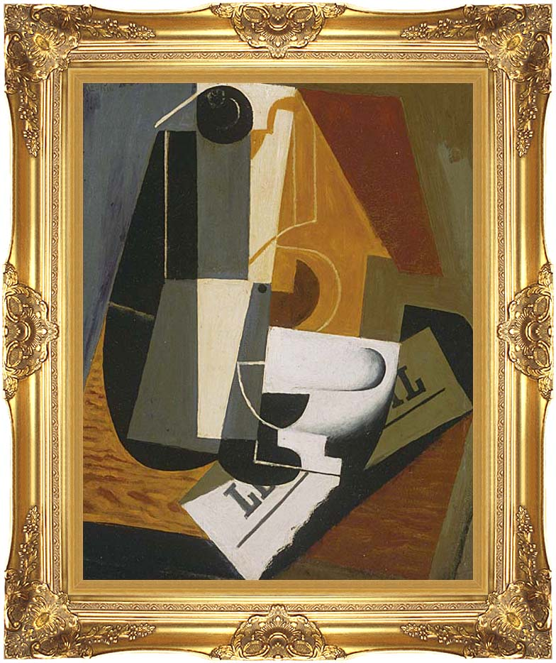 Juan Gris Coffee Pot with Majestic Gold Frame