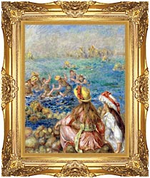 Pierre Auguste Renoir Baigneuses canvas with Majestic Gold frame