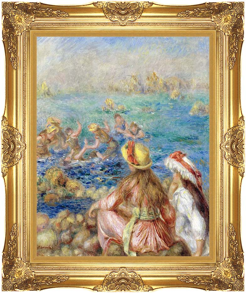 Pierre Auguste Renoir Baigneuses with Majestic Gold Frame