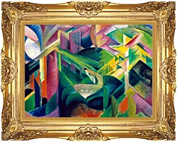 Franz Marc Deer In A Monastery Garden canvas with Majestic Gold frame