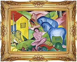 Franz Marc The Dream canvas with Majestic Gold frame
