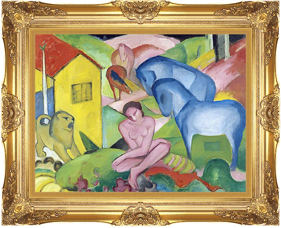 Franz Marc The Dream with Majestic Gold Frame