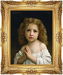 William Bouguereau Little Girl canvas with Majestic Gold frame