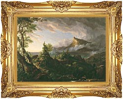 Thomas Cole The Course Of Empire The Savage State canvas with Majestic Gold frame