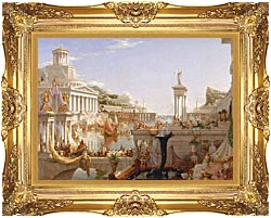 Thomas Cole The Course Of Empire The Consummation Of Empire canvas with Majestic Gold frame