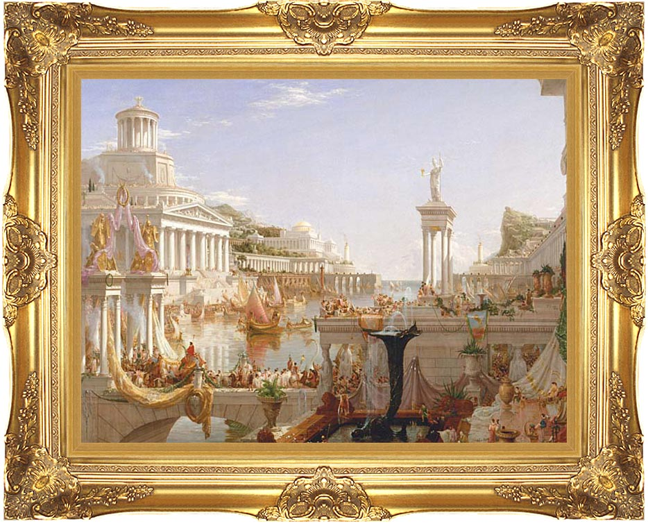 Thomas Cole The Course of Empire The Consummation of Empire with Majestic Gold Frame