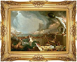 Thomas Cole The Course Of Empire Destruction canvas with Majestic Gold frame