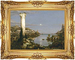 Thomas Cole The Course Of Empire Desolation canvas with Majestic Gold frame