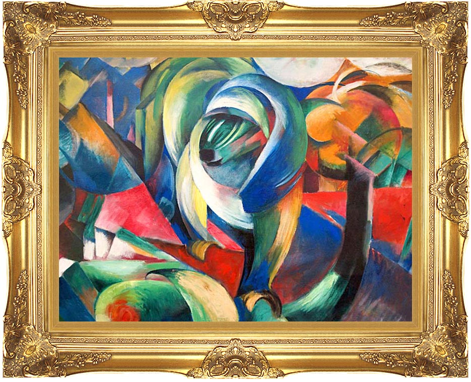 Franz Marc The Mandrill with Majestic Gold Frame