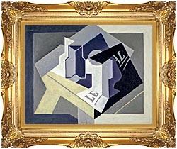 Frutero y Periodico Framed Art