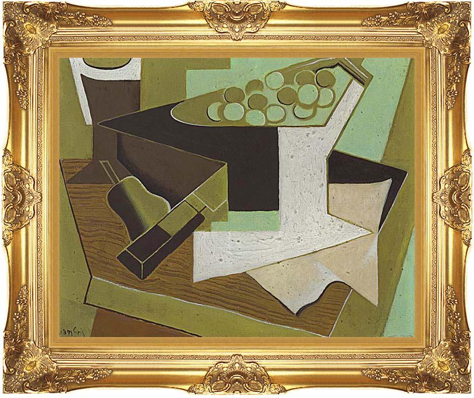 Juan Gris Grappe de raisin et poire with Majestic Gold Frame