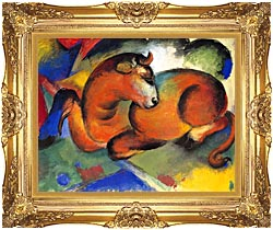 Franz Marc Red Bull canvas with Majestic Gold frame