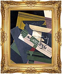 Juan Gris Grapes canvas with Majestic Gold frame