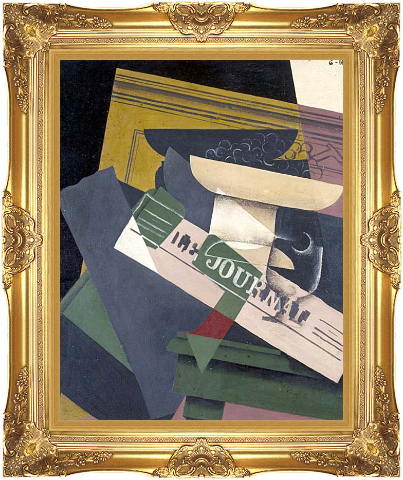 Juan Gris Grapes with Majestic Gold Frame