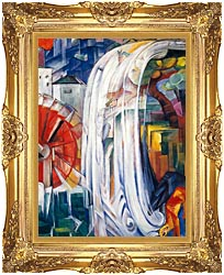 Franz Marc The Bewitched Mill canvas with Majestic Gold frame