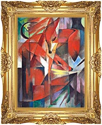 Franz Marc The Foxes canvas with Majestic Gold frame