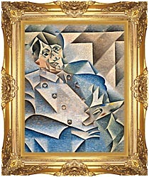 Juan Gris Portrait Of Pablo Picasso canvas with Majestic Gold frame
