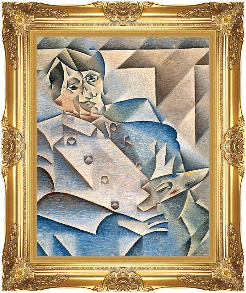 Juan Gris Portrait of Pablo Picasso with Majestic Gold Frame
