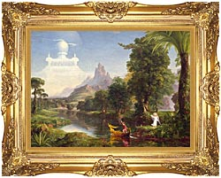Thomas Cole Voyage Of Life Youth 1842 canvas with Majestic Gold frame