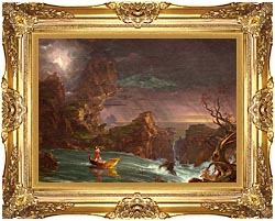 Thomas Cole Voyage Of Life Manhood 1842 canvas with Majestic Gold frame
