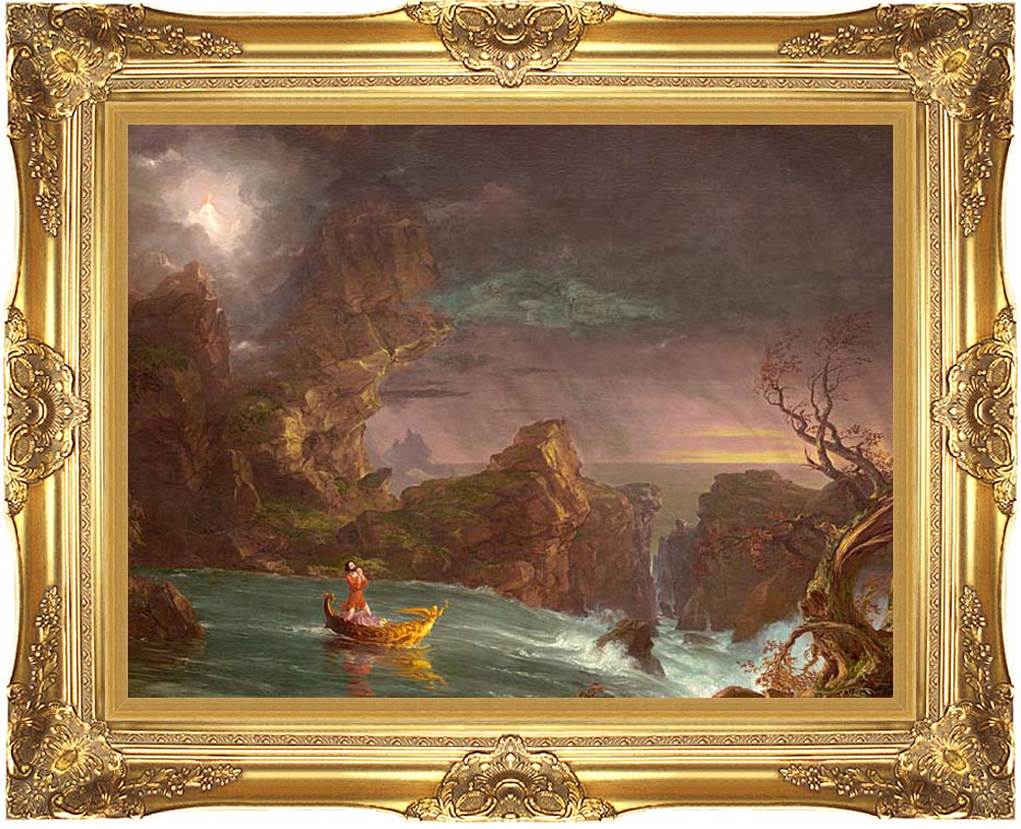 Thomas Cole Voyage of Life: Manhood 1842 with Majestic Gold Frame