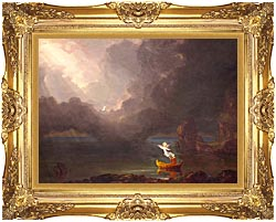 Thomas Cole Voyage Of Life Old Age 1842 canvas with Majestic Gold frame