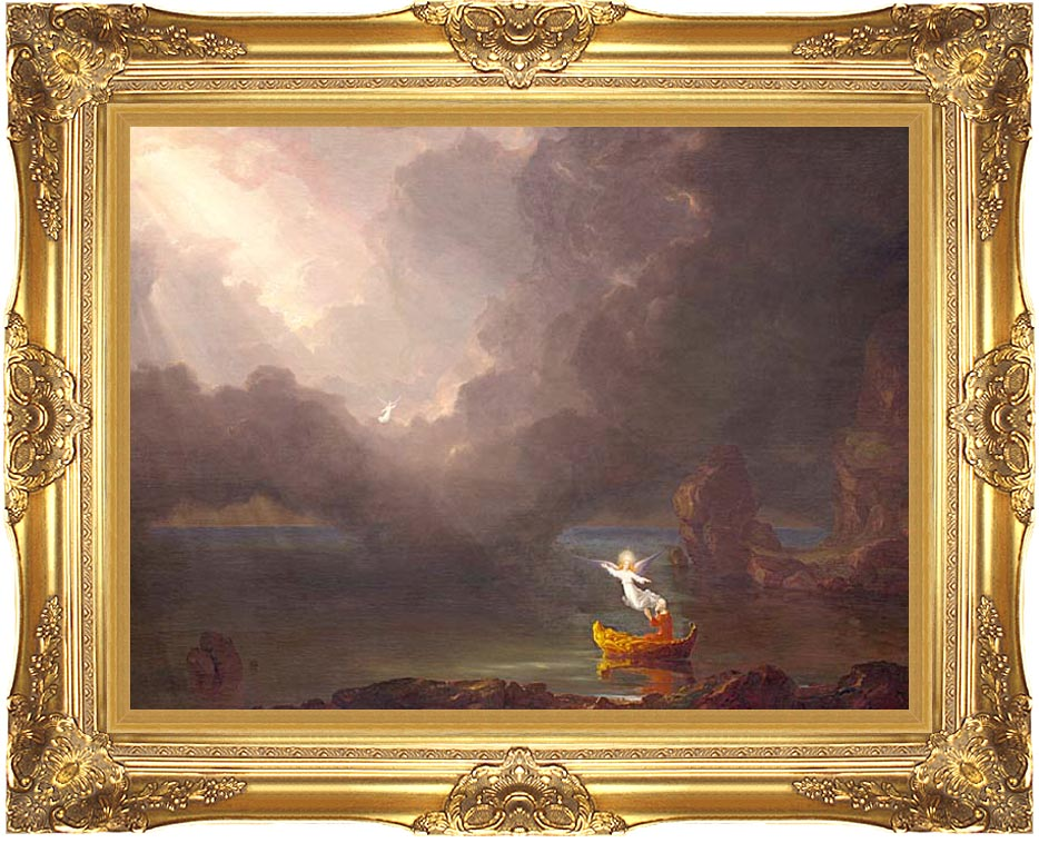 Thomas Cole Voyage of Life: Old Age 1842 with Majestic Gold Frame