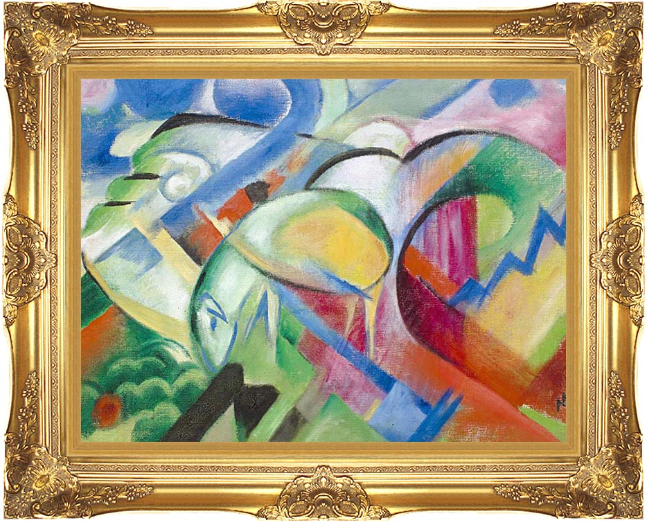 Franz Marc The Sheep with Majestic Gold Frame