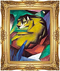 Franz Marc The Tiger canvas with Majestic Gold frame