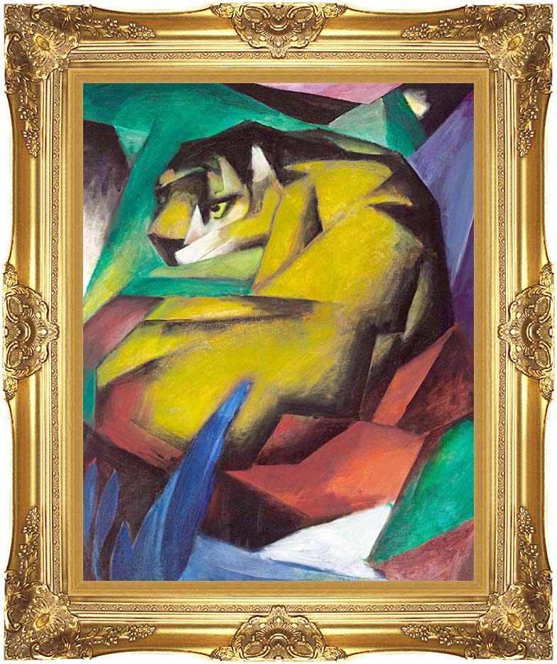 Franz Marc The Tiger with Majestic Gold Frame