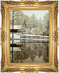 Ray Porter Images canvas with Majestic Gold frame