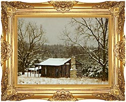 Ray Porter Cabin In The Woods canvas with Majestic Gold frame