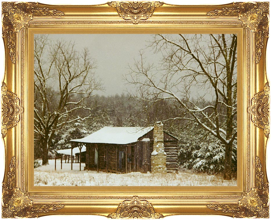 Ray Porter Cabin in the Woods with Majestic Gold Frame