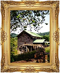 Ray Porter Old Mill canvas with Majestic Gold frame