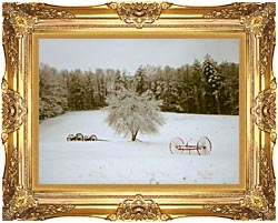Ray Porter Crystal Tree canvas with Majestic Gold frame