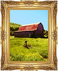 Ray Porter Country Springtime canvas with Majestic Gold frame