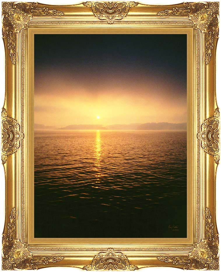 Ray Porter A Distant Glow with Majestic Gold Frame