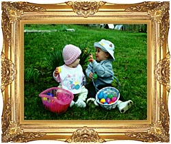 Ray Porter Our First Easter canvas with Majestic Gold frame